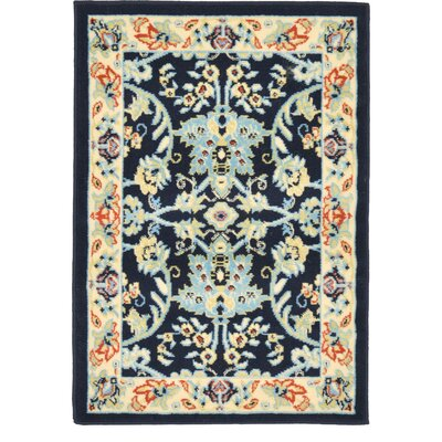 Essehoul Navy Blue Area Rug Rug Size: Rectangle 9 x 12