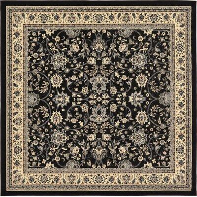 Essehoul Black Area Rug Rug Size: Square 8