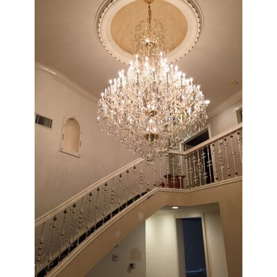 Kiazolu 60-Light Crystal Chandelier Color: Chrome