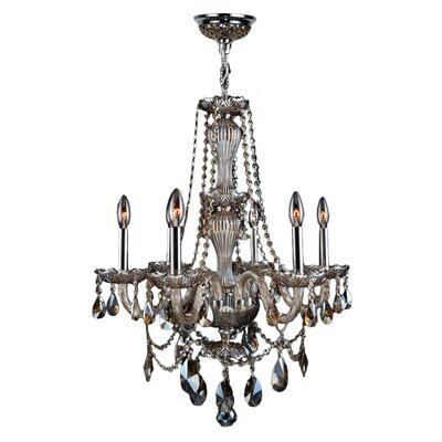 Doggett 6-Light Crystal Chandelier Crystal Color: Golden Teak