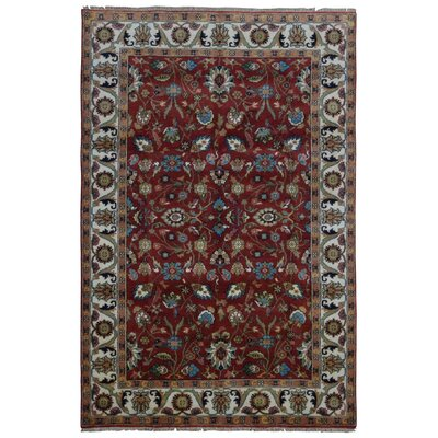One-of-a-Kind Birkent Mahal Hand-Woven Wool Red Area Rug Rug Size: Rectangle 511 x 811