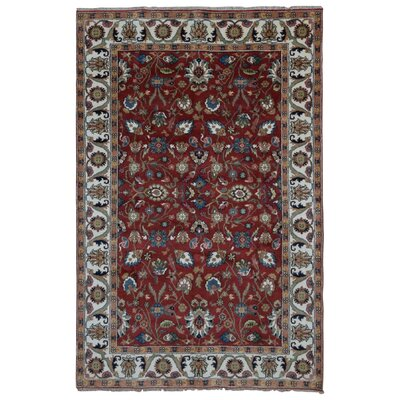 One-of-a-Kind Birkent Mahal Hand-Woven Wool Red Area Rug Rug Size: Rectangle 6 x 9