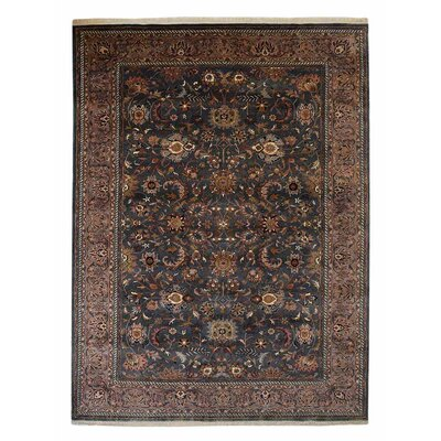 Shephard Hand-Knotted Wool Charcoal Area Rug