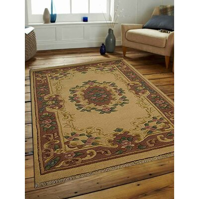 Shephard Hand-Woven Ivory/Rose Area Rug Rug Size: Rectangle�2 x 3