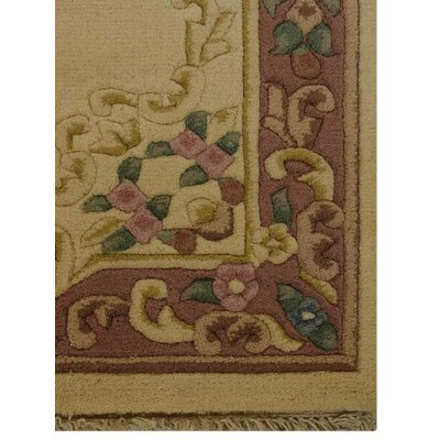 Shephard Hand-Knotted Wool Ivory/Rose Area Rug