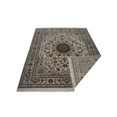Shephard Hand-Knotted Wool White/Gold Area Rug