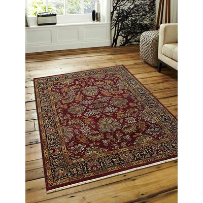 Shephard Hand-Knotted Wool Red/Black Area Rug