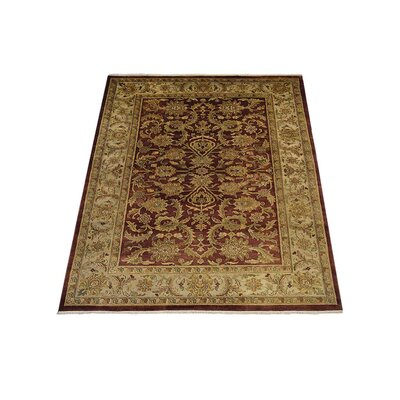 Shephard Hand-Knotted Wool Rust/Cream Area Rug