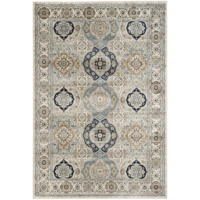Baddesley Ivory/Ivory Area Rug Rug Size: Rectangle 8 x 10