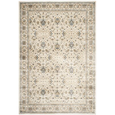 Woodhay Ivory/Ivory Area Rug Rug Size: Rectangle 8 x 10