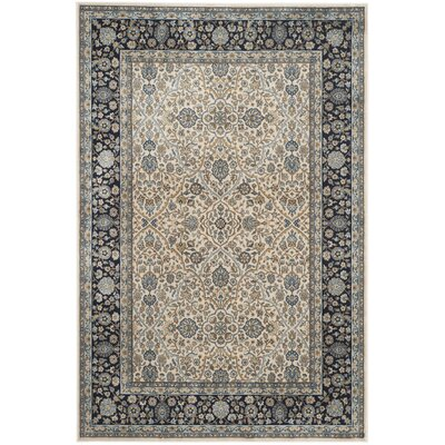 Godolphin Ivory/Navy Area Rug Rug Size: Rectangle 51 x 77