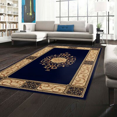 Dodington Machine Woven Polypropylene Midnight Blue Blue Area Rug Rug Size: Rectangle 4 x 6