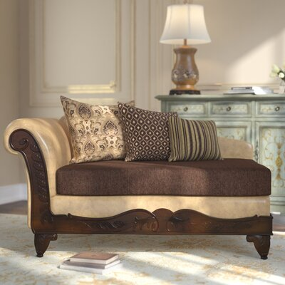 Mouros Chaise Lounge Upholstery: Dark Brown / Taupe