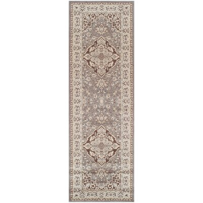 Vassar Gray/Brown Area Rug Rug Size: Runner 26 x 8