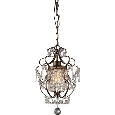 Asner 1-Light Crystal Pendant Color: Bronze