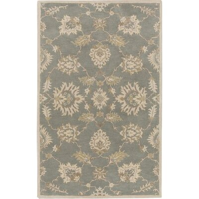Kempinski Hand-Tufted Blue/Beige Area Rug Rug Size: Rectangle 76 x 96