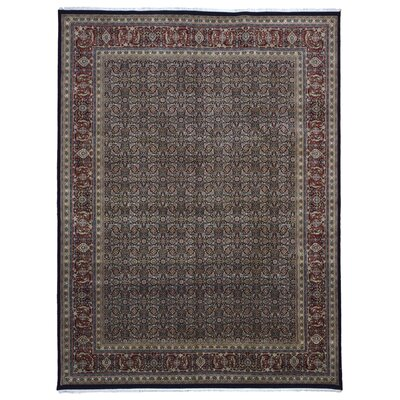 One-of-a-Kind Traditional Hand-Woven Wool Brown/Black Area Rug Rug Size: Rectangle 89 x 1111