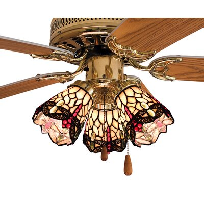 4 Glass Bowl Ceiling Fan Fitter Shade