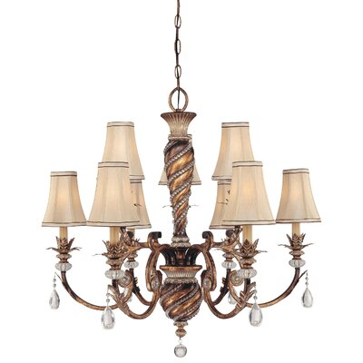 Mcmillian 9-Light Shaded Chandelier