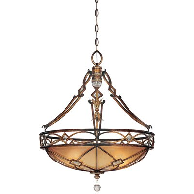 Mcmillian 3-Light Foyer Inverted Pendant