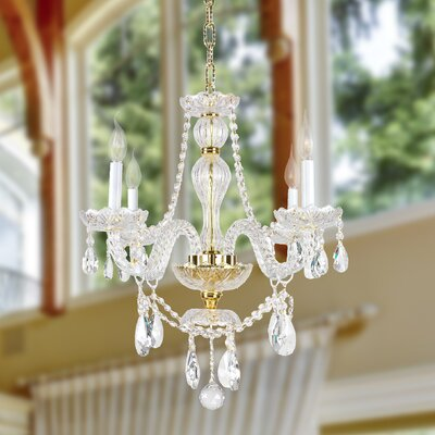 Pulaski 4-Light Crystal Chandelier Color: Gold