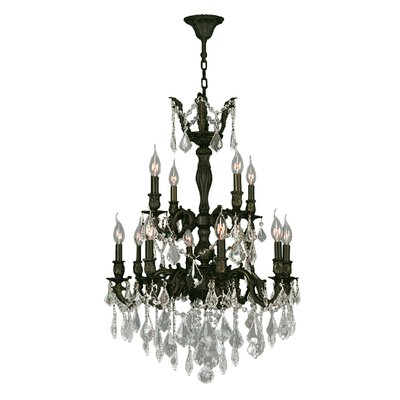 Dodson 12-Light Chain Candle-Style Chandelier