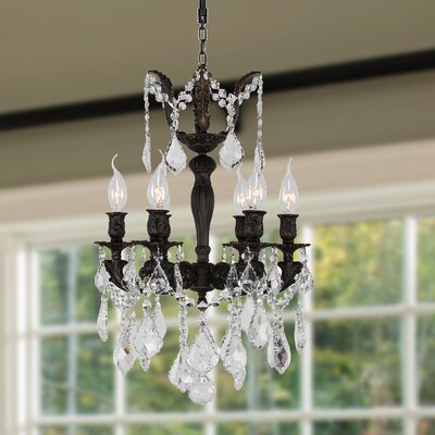 Dodson 6-Light Crystal Chandelier Size: 22 H x 15 W