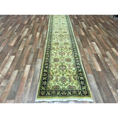 One-of-a-Kind Balic Oriental Hand Woven Gold/Green Area Rug