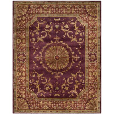 Latarra Hand Tufted Wool Burgundy Area Rug Rug Size: Rectangle 83 x 11