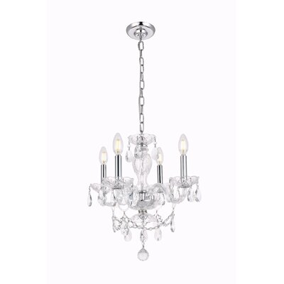 Ogden 4-Light Crystal Chandelier Finish: Chrome