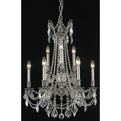 Utica 9-Light Candle-Style Chandelier Crystal Color / Crystal Trim: Golden Teak (Smoky) / Royal Cut