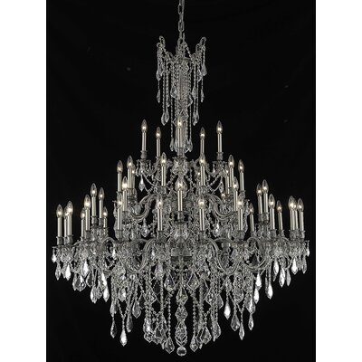 Utica 45-Light Candle-Style Chandelier Crystal Color / Crystal Trim: Golden Teak (Smoky) / Strass Swarovski
