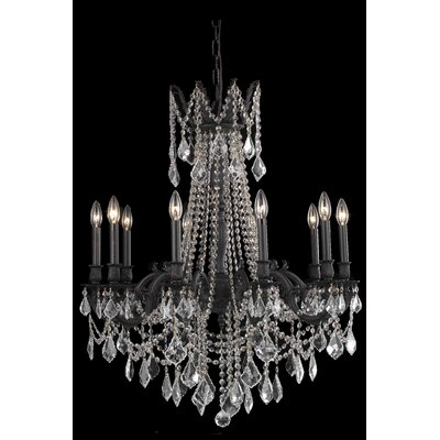Utica 10-Light Crystal Chandelier Crystal Color / Crystal Trim: Crystal (Clear) / Royal Cut