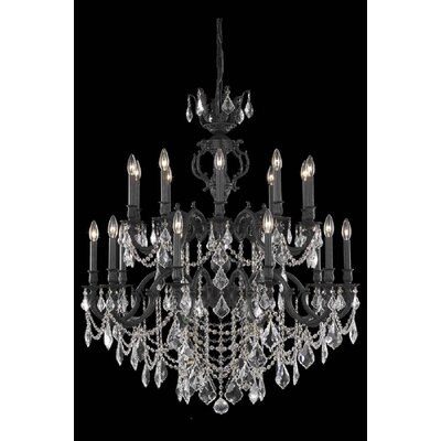 Canary 20-Light Crystal Chandelier Crystal Color / Crystal Trim: Crystal (Clear) / Elegant Cut