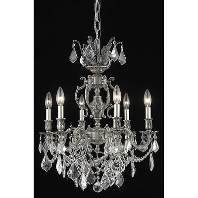 Canary 6-Light Candle-Style Chandelier Crystal Color / Crystal Trim: Golden Teak (Smoky) / Strass Swarovski