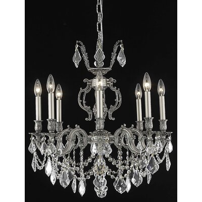 Canary 8-Light Candle-Style Chandelier Crystal Color / Crystal Trim: Crystal (Clear) / Elegant Cut