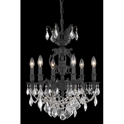 Canary 6-Light Crystal Chandelier Crystal Color / Crystal Trim: Crystal (Clear) / Strass Swarovski