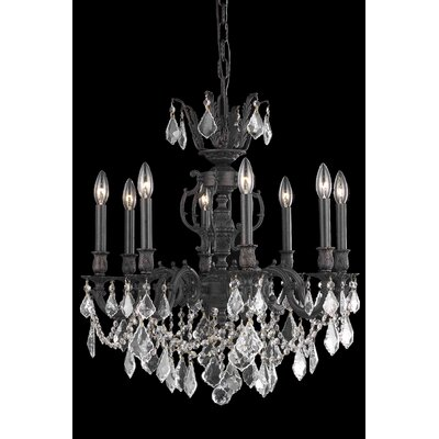 Canary 8-Light Crystal Chandelier Crystal Color / Crystal Trim: Crystal (Clear) / Elegant Cut