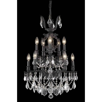 Canary 10-Light Crystal Chandelier Crystal Color / Crystal Trim: Golden Shadow (Champagne) / Royal Cut