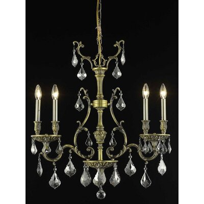 Almont 4-Light Candle-Style Chandelier Finish / Crystal Color / Crystal Trim: Antique Bronze / Grey / Strass Swarovski