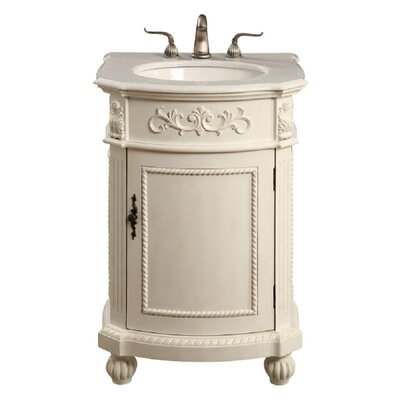 Ambudkar 24 Single Bathroom Vanity Set Base Finish: Antique White