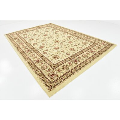 Niles Floral Cream Area Rug Rug Size: Rectangle 6 x 9