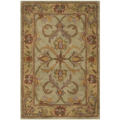 Taylor Hand-Tufted Wool Green/Beige Area Rug Rug Size: Rectangle 2 x 3