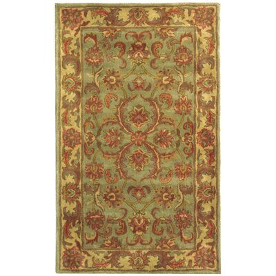 Taylor Hand-Tufted Wool Green/Beige Area Rug Rug Size: Rectangle 3 x 5