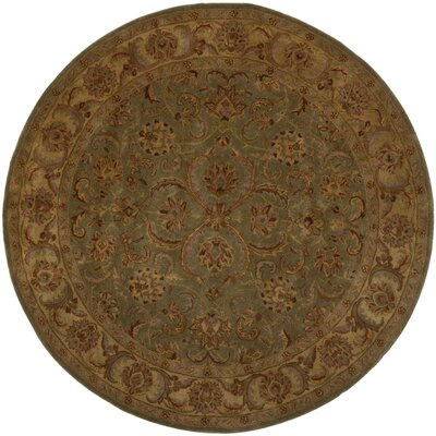Taylor Hand-Tufted Wool Green/Beige Area Rug Rug Size: Round 8