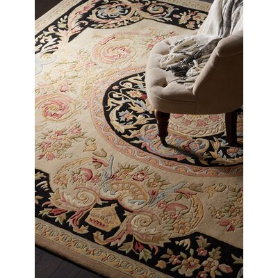 Chaplain Ivory/Gold Area Rug Rug Size: Rectangle 8 x 10