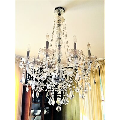 Doggett Traditional 8-Light Crystal Chandelier Crystal Color: Clear