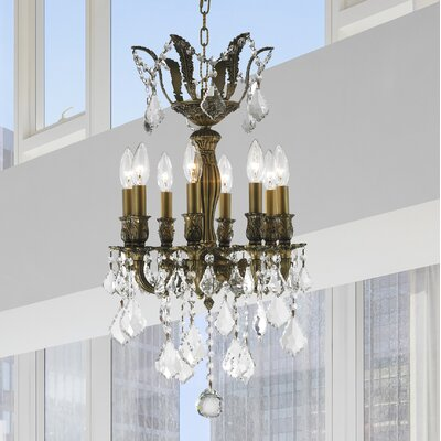 Dodson Traditional 8-Light Crystal Chandelier Size: 23 H x 14 W x 14 D