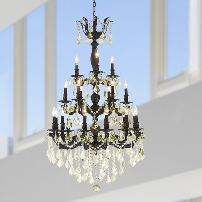 Dodson Traditional 21-Light Crystal Chandelier