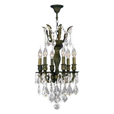 Dodson 6-Light 40W Crystal Chandelier